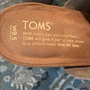 TOMS cut-out suede sandals